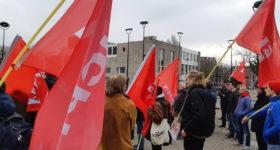 Communistische Jongeren demonstreren in Tilburg